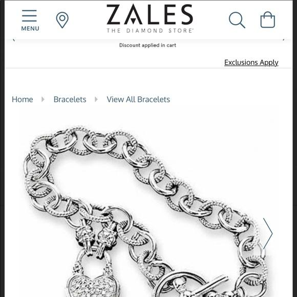 Zales Jewelers real diamond heart bracelets
